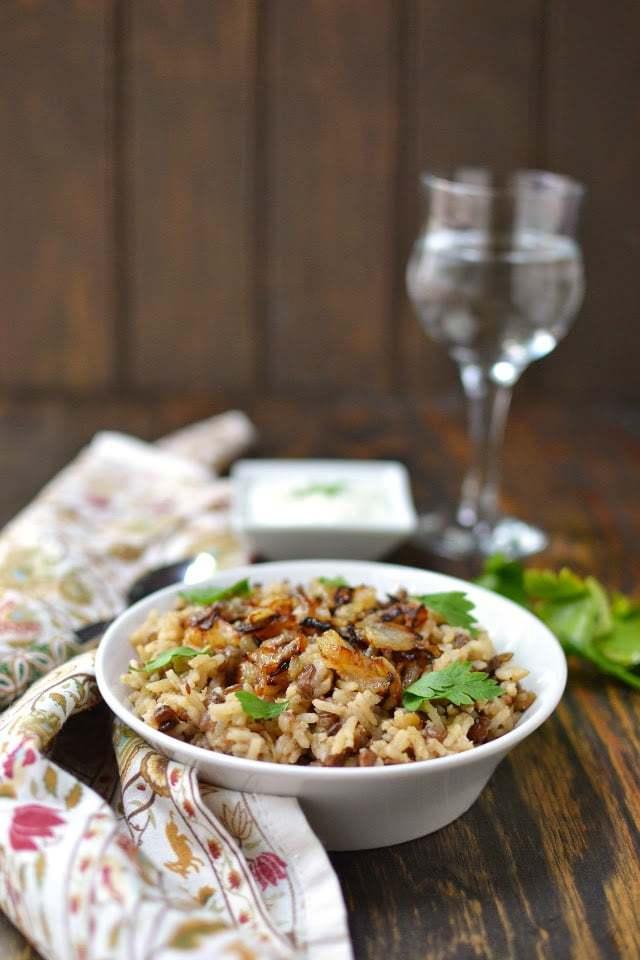 Mujadara (Rice & Lentils dish) Recipe   HeyFood — heyfoodapp.com