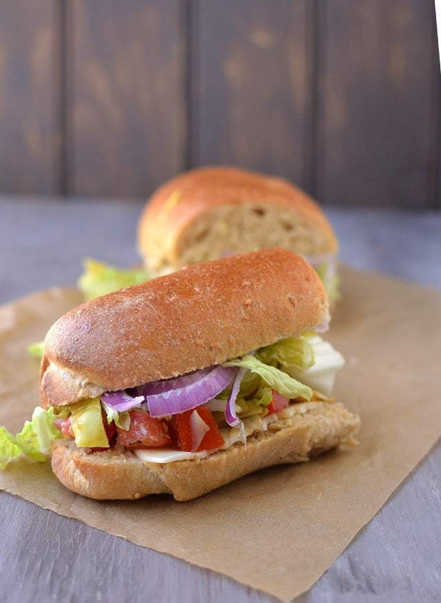 Vegetarian Hoagie Sandwich Recipe | HeyFood — heyfoodapp.com