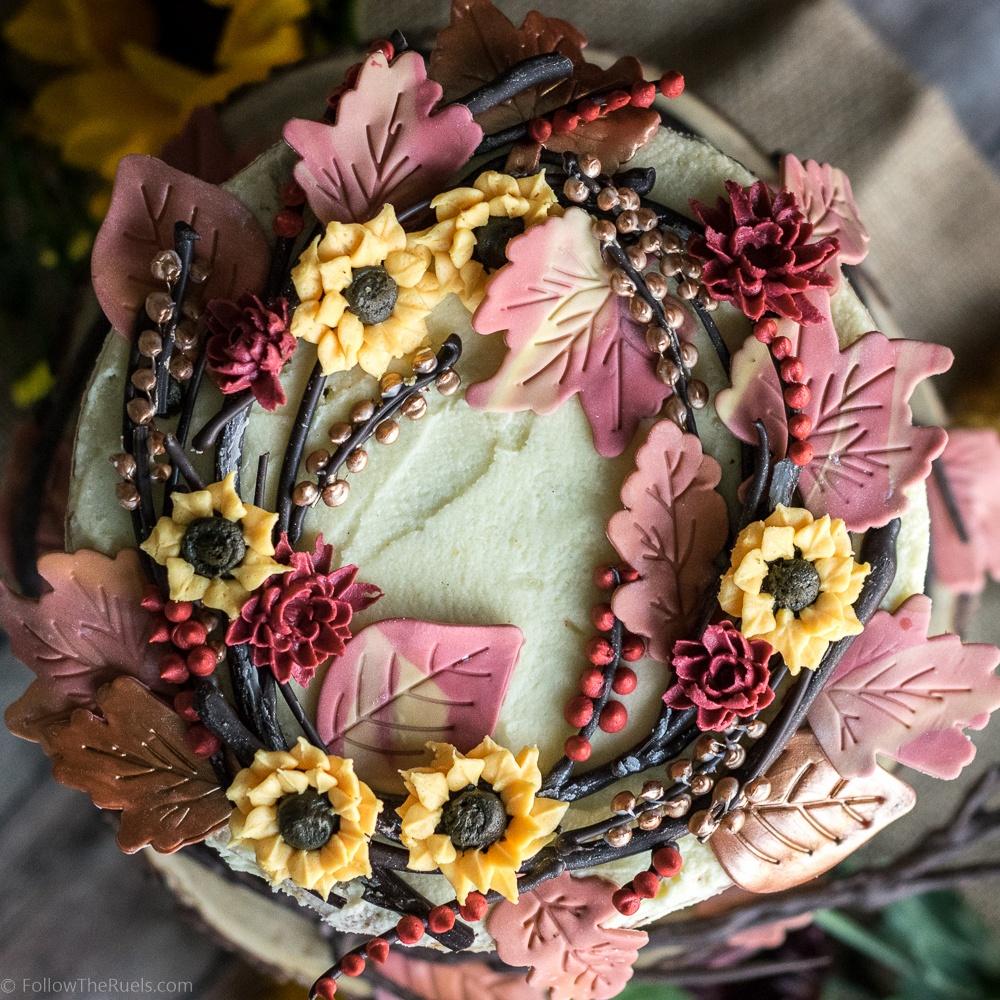 Autumn Wreath Maple Pecan Cake Recipe | HeyFood — heyfoodapp.com