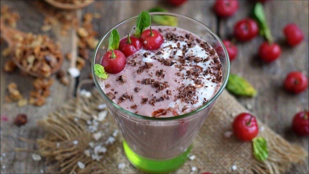 Cherry Chocolate Smoothie Recipe | HeyFood — heyfoodapp.com