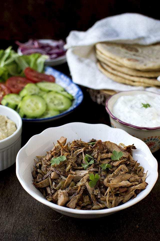 Greek Gyros with Jackfruit Recipe | HeyFood — heyfoodapp.com