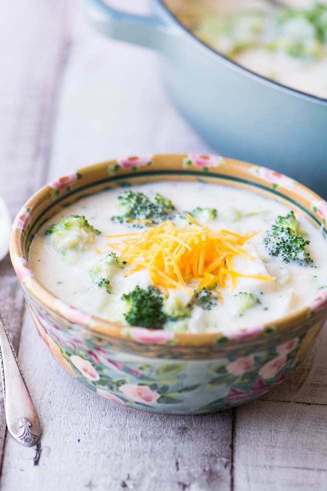 Broccoli Cheddar Cheese Chowder Recipe | HeyFood — heyfoodapp.com