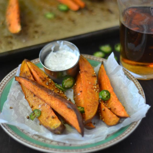Sweet Potato Spears with Lemongrass Dip Recipe | HeyFood — heyfoodapp.com