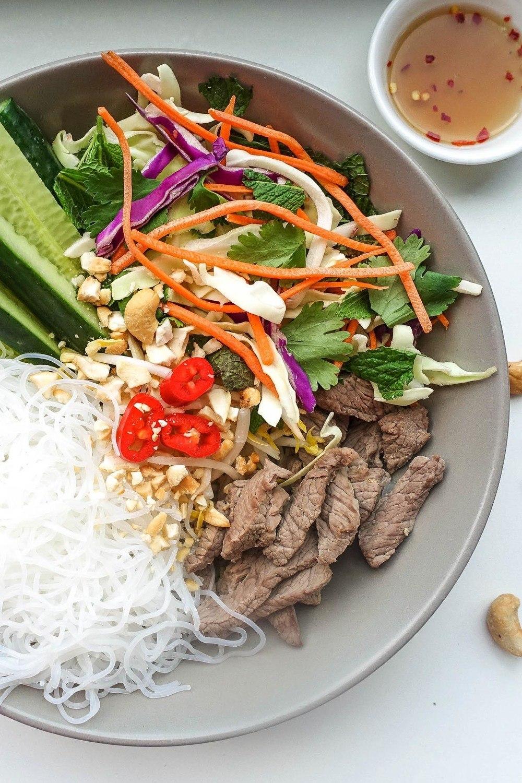 Vietnamese Pho Salad Bowl Recipe   HeyFood — heyfoodapp.com