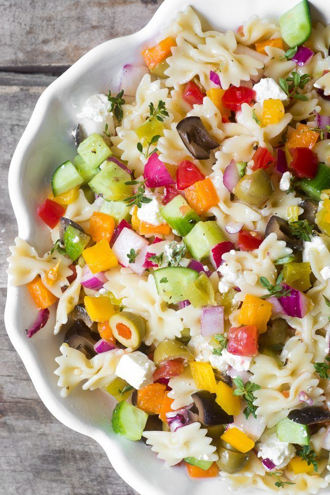 Chopped Israeli Pasta Salad Recipe | HeyFood — heyfoodapp.com