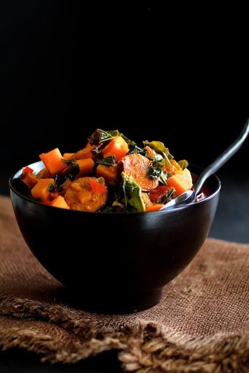 Chorizo Kale and Sweet Potato Stew Recipe | HeyFood — heyfoodapp.com