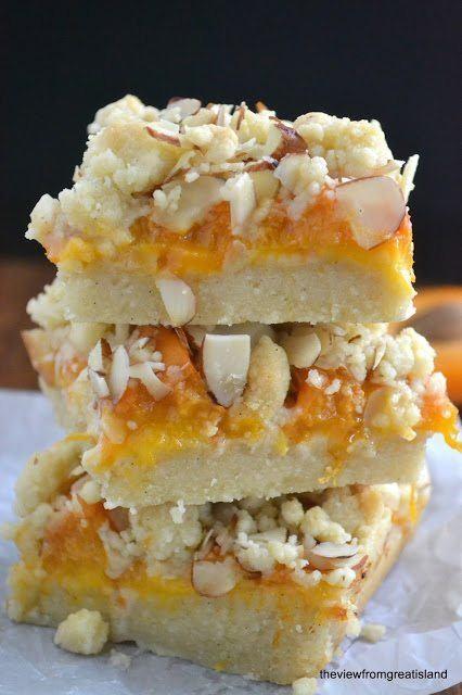 Apricot Frangipane Crumble Bars Recipe | HeyFood — heyfoodapp.com