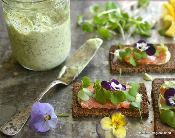 Nordic Open Faced Smoked Salmon Sandwiches Recipe | HeyFood — heyfoodapp.com