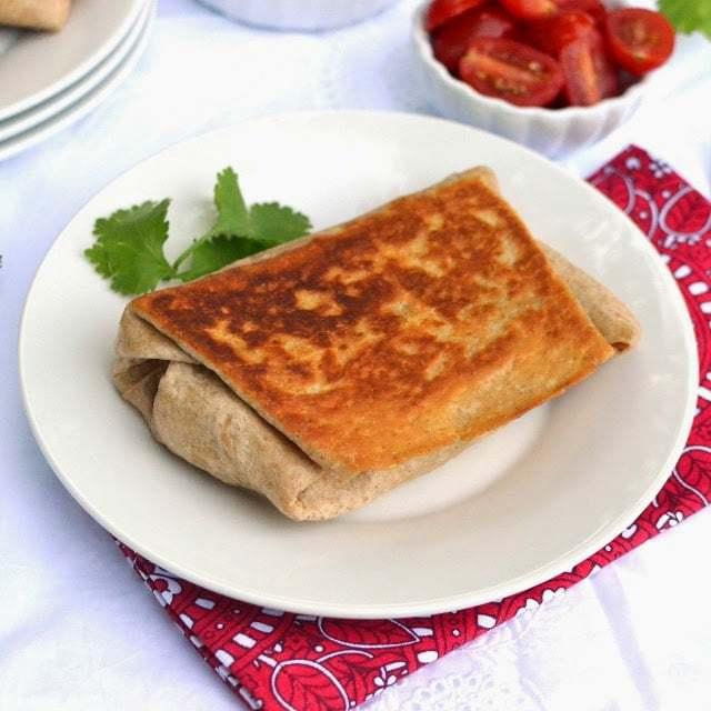 Vegetarian Chimichanga with Kidney Beans Recipe | HeyFood — heyfoodapp.com