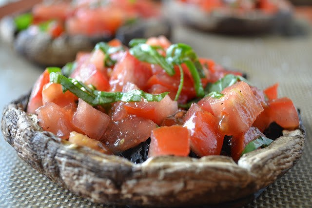 Portobello Mushroom Caprese Recipe | HeyFood — heyfoodapp.com