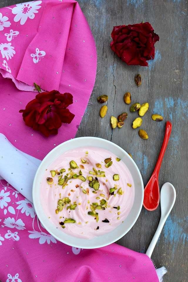 Rose Shrikhand (Gulab Shrikand) Recipe | HeyFood — heyfoodapp.com
