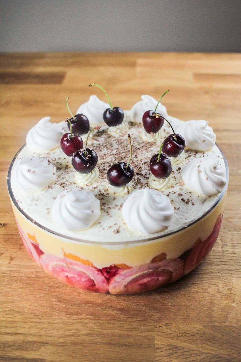 Berrylicious Boozy Orange Trifle Recipe | HeyFood — heyfoodapp.com