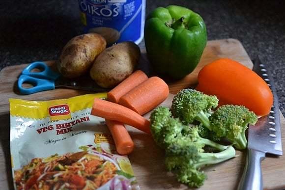 Vegetable Biryani using Biryani Mix Recipe | HeyFood — heyfoodapp.com