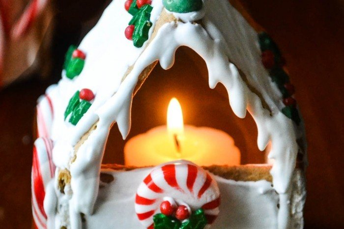 Graham Cracker Gingerbread House Votives (easy tutorial) Recipe | HeyFood — heyfoodapp.com