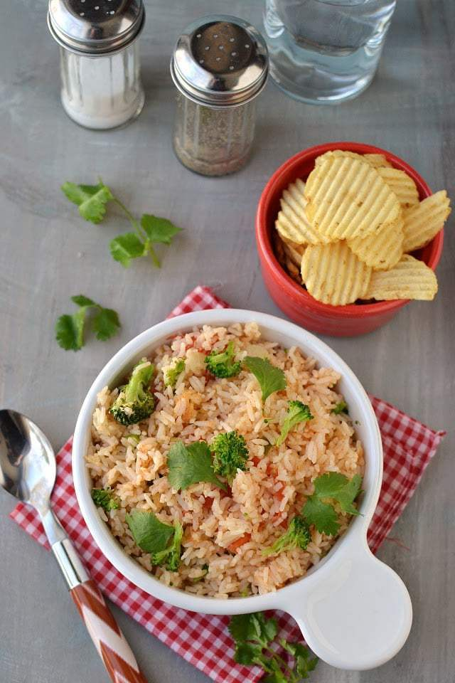 Whole Tomato Rice with Indian flavors (made in Rice Cooker) Recipe | HeyFood — heyfoodapp.com