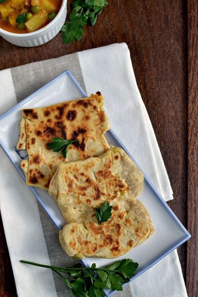 Roti Canai with Curry Sauce Recipe   HeyFood — heyfoodapp.com