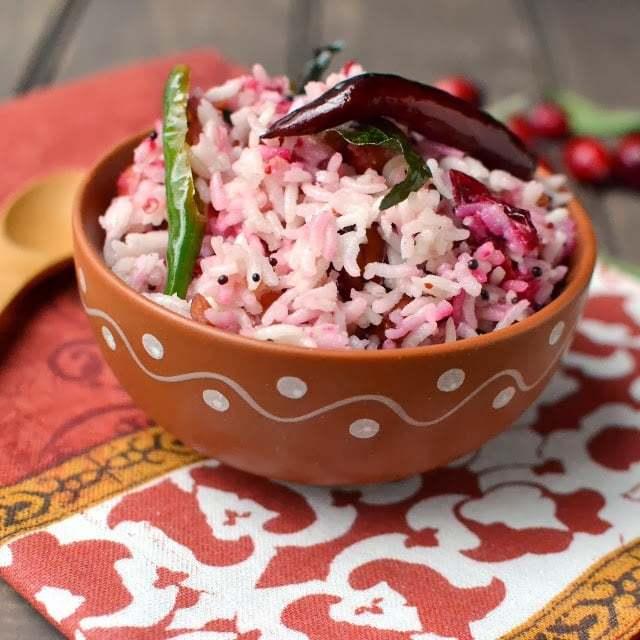 Cranberry Pulihora Recipe | HeyFood — heyfoodapp.com