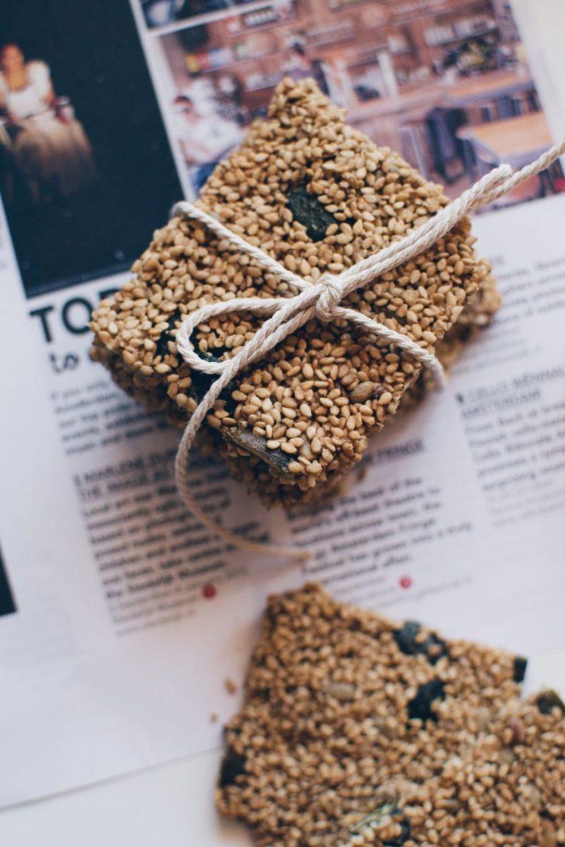 Sesame crisps - a super yummy healthy treat Recipe | HeyFood — heyfoodapp.com