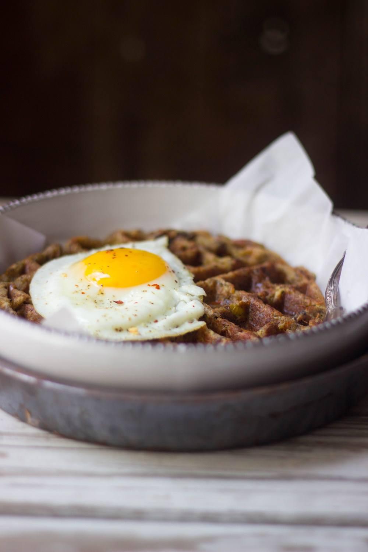 Leftover Stuffing Waffles Recipe   HeyFood — heyfoodapp.com