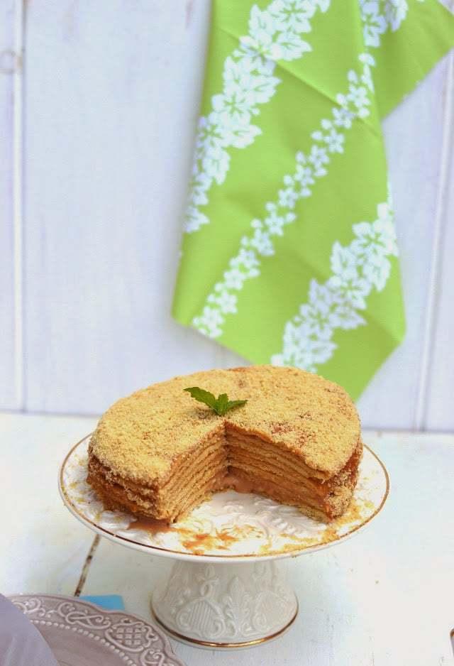 Russian Honey Cake -- Medovik Recipe | HeyFood — heyfoodapp.com