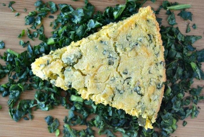 Cheddar Kale Skillet Cornbread Recipe | HeyFood — heyfoodapp.com