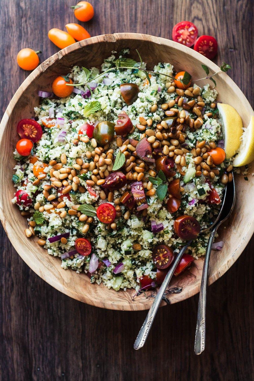Cauliflower Rice Tabbouleh Recipe | HeyFood — heyfoodapp.com