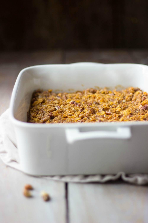 Lightened-Up Sweet Potato Casserole Recipe | HeyFood — heyfoodapp.com