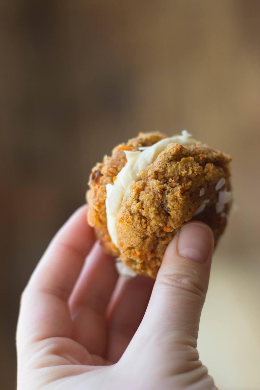 Carrot Cake Cookie Sandwiches Recipe | HeyFood — heyfoodapp.com
