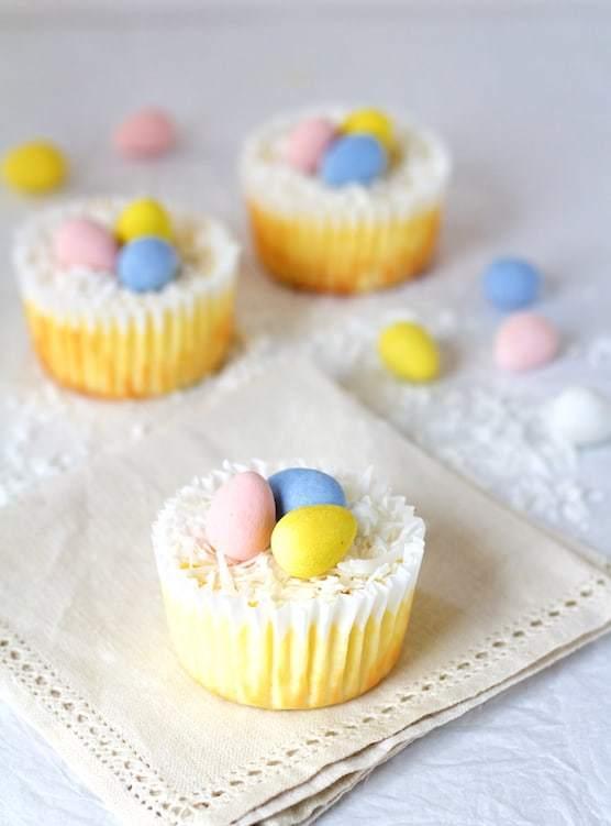 Lighter Mini Cheesecakes Recipe   HeyFood — heyfoodapp.com