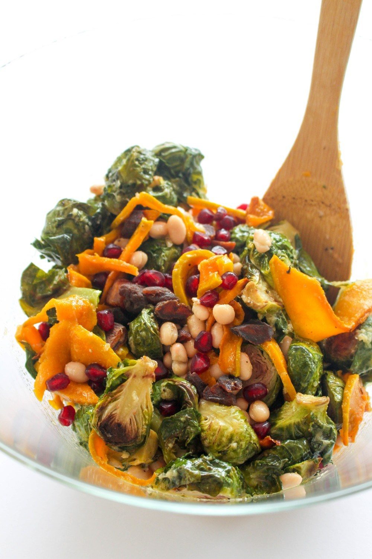 Brussel Sprout and Kabocha Squash Salad Recipe | HeyFood — heyfoodapp.com