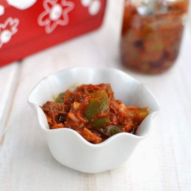 Bell Pepper/ Capsicum Avakaya Recipe | HeyFood — heyfoodapp.com