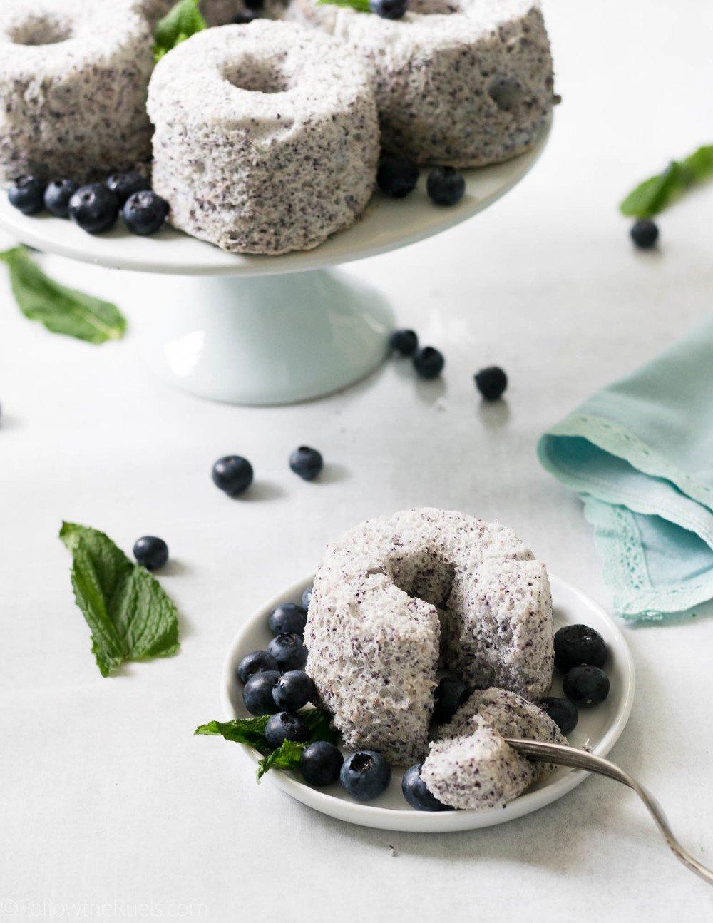 Blueberry Angel Food Cake Recipe | HeyFood — heyfoodapp.com