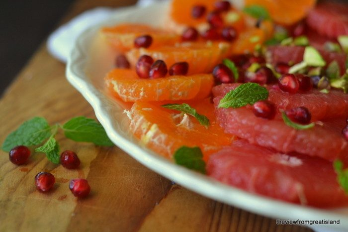 Mixed Citrus Salad with Pomegranate, Mint, and Pistachio Recipe | HeyFood — heyfoodapp.com