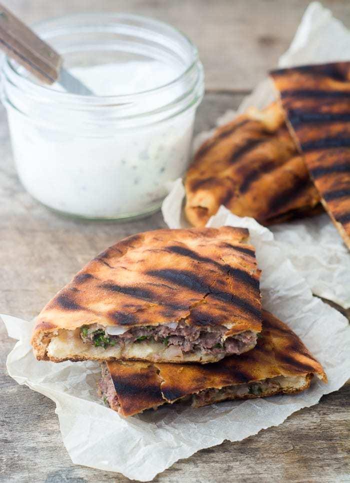 Spiced Lamb Pita Burgers Recipe   HeyFood — heyfoodapp.com