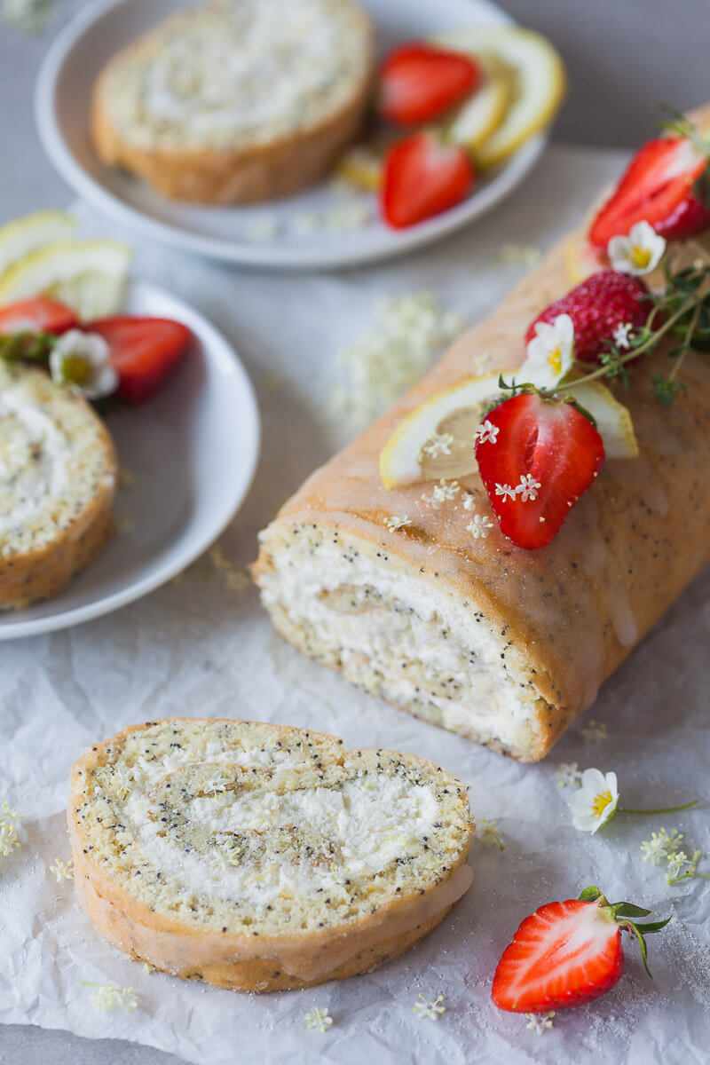 Creamy Lemon Poppy Seed Roulade Recipe | HeyFood — heyfoodapp.com