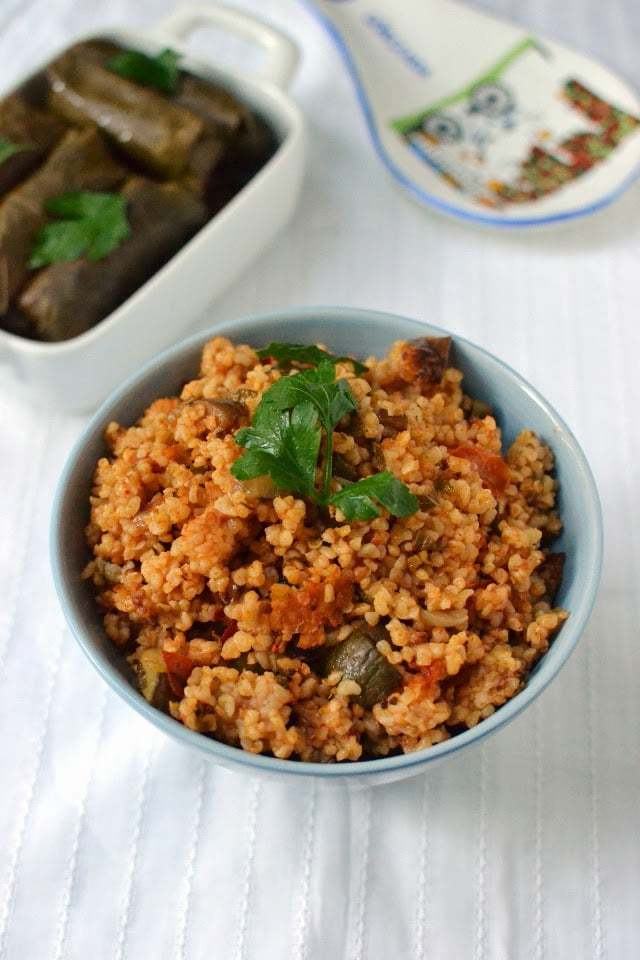 Turkish Bulgur Pilaf with Veggies Recipe | HeyFood — heyfoodapp.com