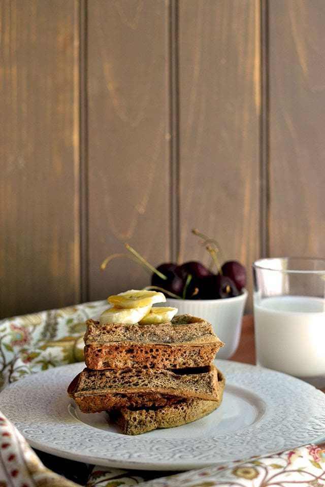 Vegan Buckwheat Waffles Recipe | HeyFood — heyfoodapp.com