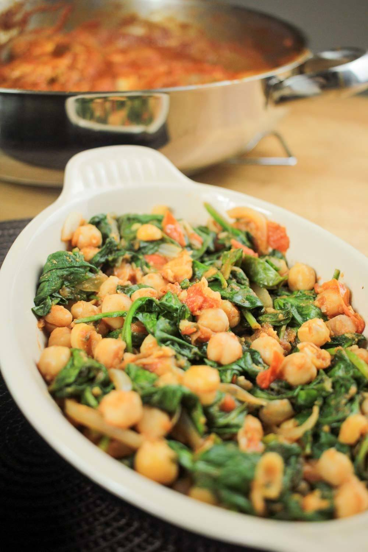 Spicy Chickpeas and Spinach Recipe | HeyFood — heyfoodapp.com