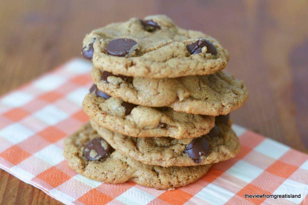 Flourless Almond Butter Chocolate Chip Cookies Recipe | HeyFood — heyfoodapp.com