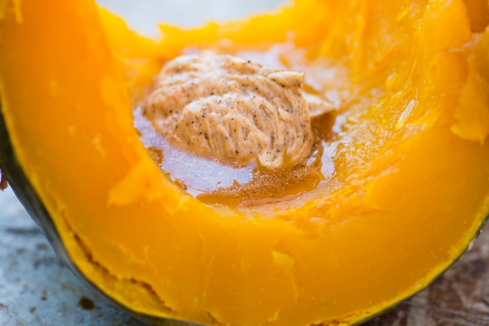 Whole Roasted Kabocha Squash with Chipotle Butter Recipe | HeyFood — heyfoodapp.com