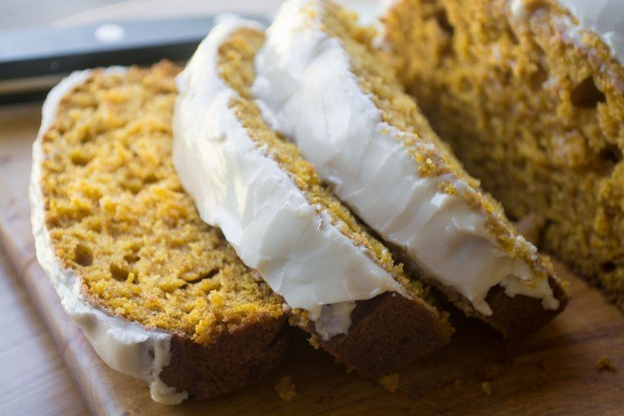 Maple Glazed Pumpkin Bread Recipe | HeyFood — heyfoodapp.com