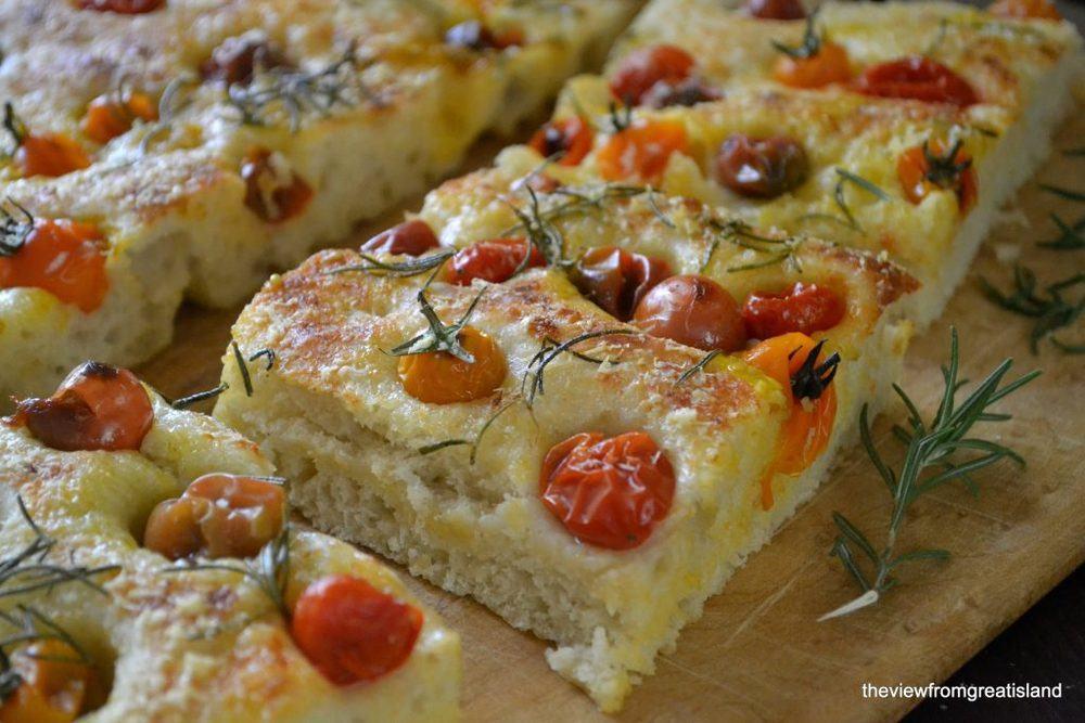 Summer Tomato Focaccia Recipe | HeyFood — heyfoodapp.com