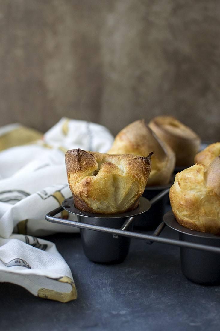 Easy Sourdough Popovers for #BreadBakers Recipe | HeyFood — heyfoodapp.com
