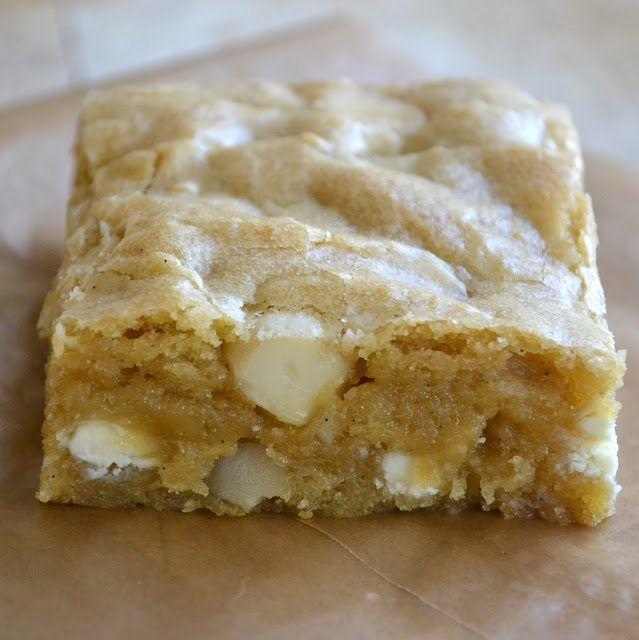 White Chocolate Macadamia Nut Blondies Recipe | HeyFood — heyfoodapp.com