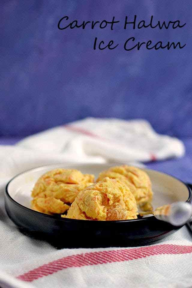Carrot Halwa Ice Cream Recipe | HeyFood — heyfoodapp.com