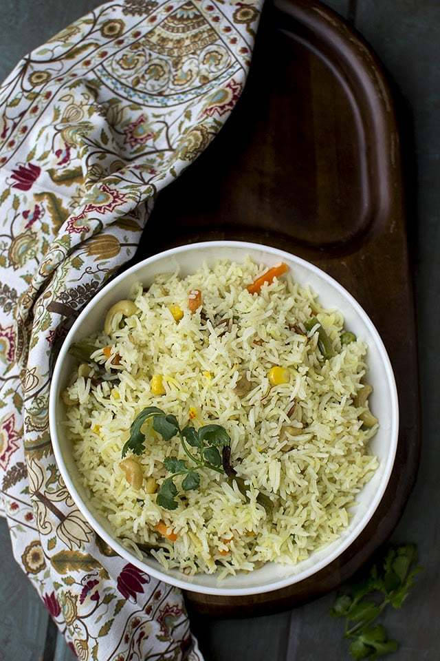 Bengali Mishti Pulao with Vegetables Recipe | HeyFood — heyfoodapp.com