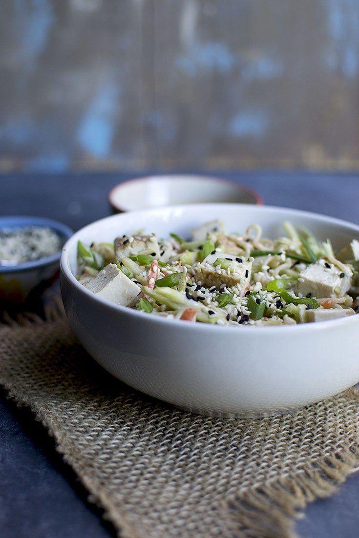 Sesame Noodle & Vegetable Salad Recipe | HeyFood — heyfoodapp.com