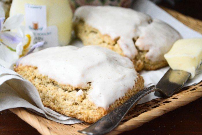 Banana Walnut Scones with Browned Butter Icing Recipe | HeyFood — heyfoodapp.com