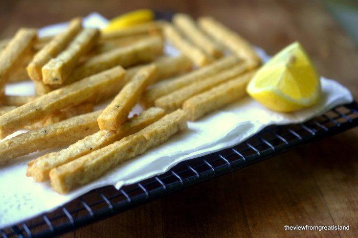 Chickpea Fries with Yogurt Tahini Dip Recipe | HeyFood — heyfoodapp.com