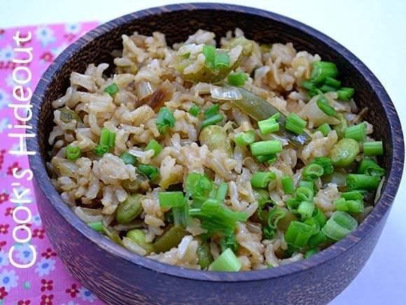 Chinese style Green Rice Recipe | HeyFood — heyfoodapp.com